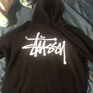 Black stussy hoodie